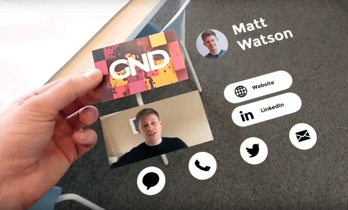 multimedia business cards