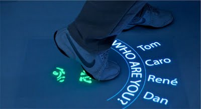 Multitouch shoe recognition