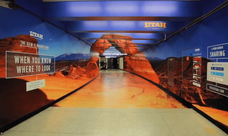 Tunnel optical illusion