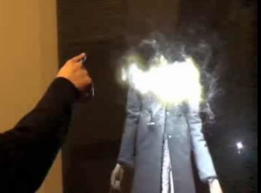 interactive 3D projection with gesture movement