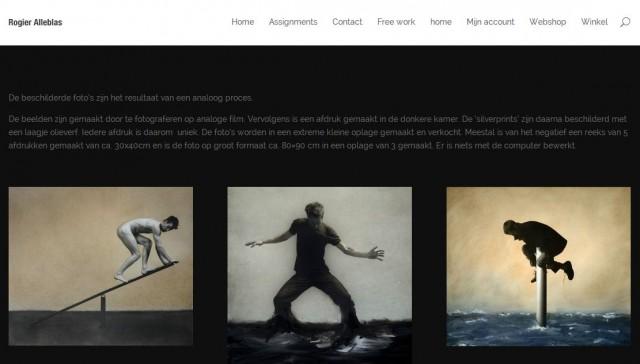 Website for mixed media artist