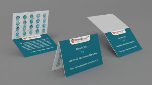 Folded business card design