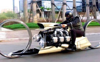 Futuristic motorbike