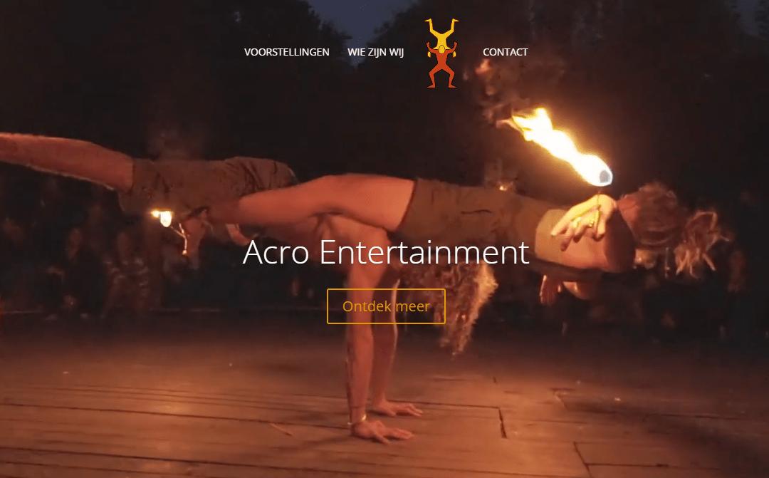 Web and logo design for acrobatics
